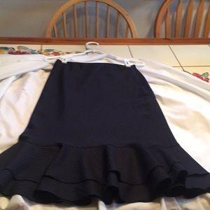 Ralph Lauren navy blue pinstriped skirt